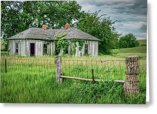 Home Place - Farmhouse - Kansas Greeting Card by Nikolyn McDonald