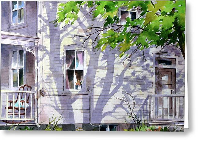 Home Shadows Greeting Card by Art Scholz