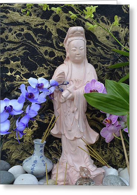 Home Shrine 2 Greeting Card by To-Tam Gerwe