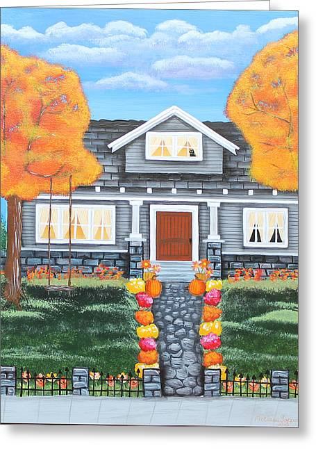 Home Sweet Home - Comes Autumn Greeting Card