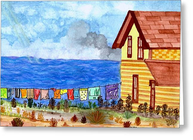 Home Sweet Home Greeting Card by Connie Valasco