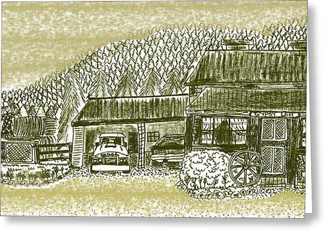 Home Sweet Home Greeting Card by Diana-Lee Saville