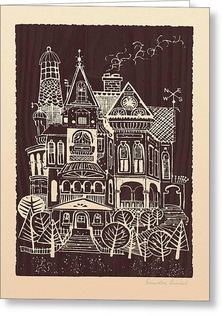 Home Sweet Home Greeting Card by Ernestine Grindal