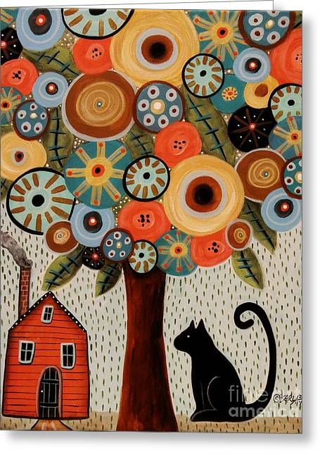 Home Sweet Home Greeting Card by Karla Gerard
