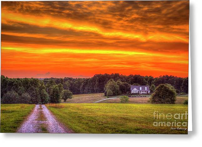Home Sweet Home Lick Skillet Road Sunset Georgia Rural Art Greeting Card