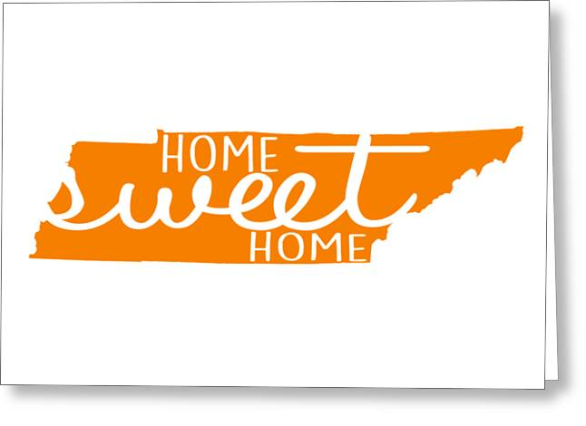 Greeting Card featuring the digital art Home Sweet Home Tennessee by Heather Applegate