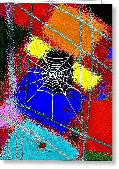 Home Sweet Spider Home Greeting Card by Mimo Krouzian
