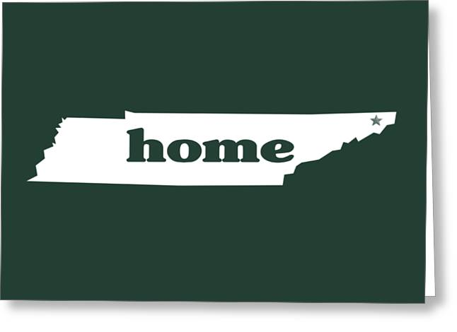 home TN on Green Greeting Card by Heather Applegate