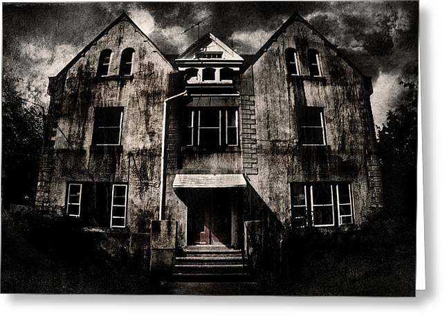 Haunted House Digital Greeting Cards - Home Greeting Card by Torgeir Ensrud
