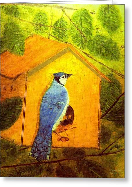 Home Tweet Home Greeting Card by Larry E Lamb