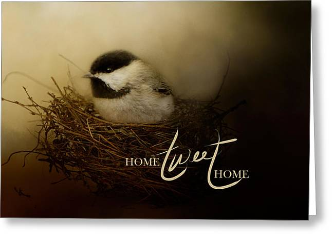 Home Tweet Home With Words Greeting Card by Jai Johnson