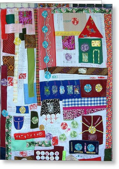 Home Where The Heart Is Greeting Card by Lorna Diwata Fernandez