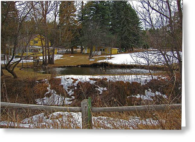 Greeting Card featuring the photograph Home With Pond by Tammy Sutherland