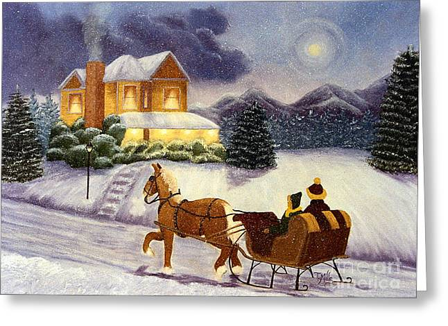 Greeting Card featuring the painting Homecoming by Terri Mills