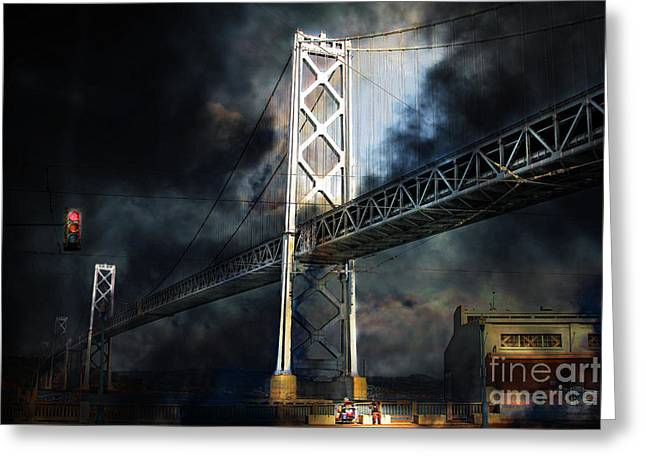 Homeless By The Bay . 7d7748 Greeting Card