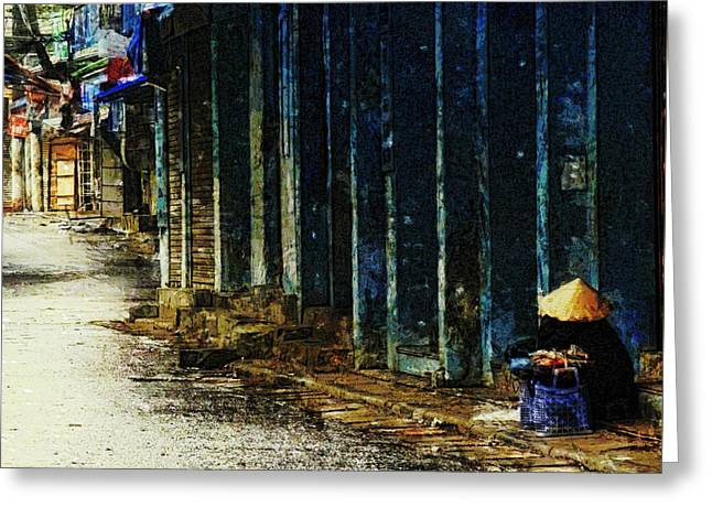Homeless In Hanoi Greeting Card by Cameron Wood