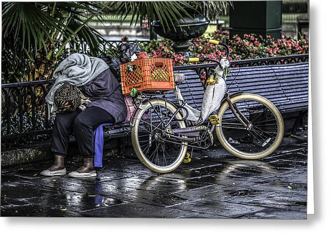 Homeless In New Orleans, Louisiana Greeting Card