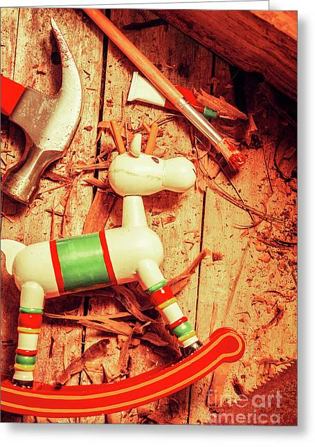 Homemade Christmas Toy Greeting Card by Jorgo Photography - Wall Art Gallery