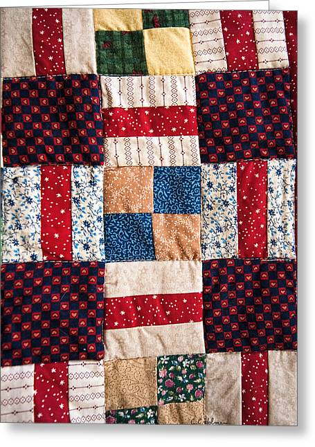 Homemade Quilt Greeting Card by Christopher Holmes