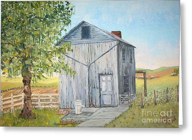 Homeplace - The Washhouse Greeting Card by Judith Espinoza