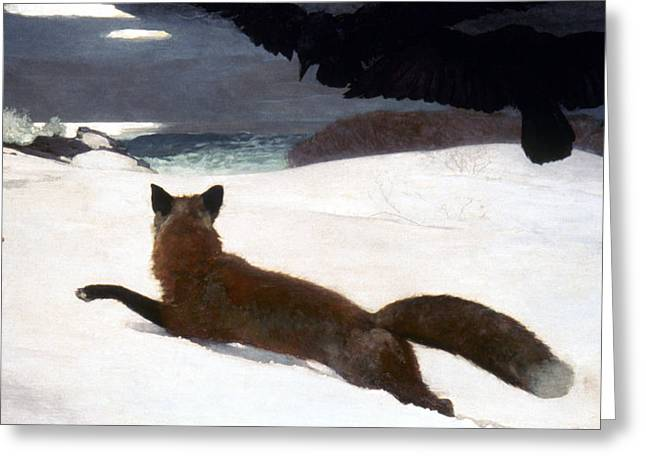 Winslow Homer Photographs Greeting Cards - Homer Fox Hunt 1893 Greeting Card by Granger