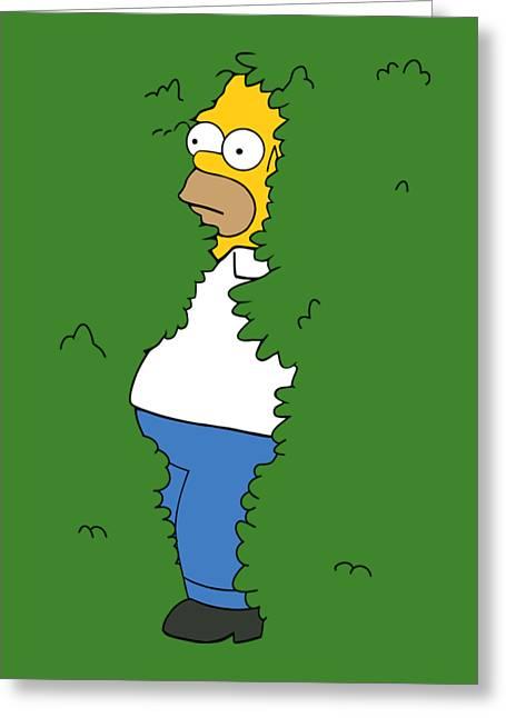 Homer Greeting Card by Manuel Rubio