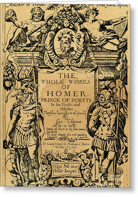 Homer Title Page, 1616 Greeting Card by Granger