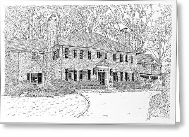 Homes Of Philadelphia's Main Line Greeting Card by Ira Shander