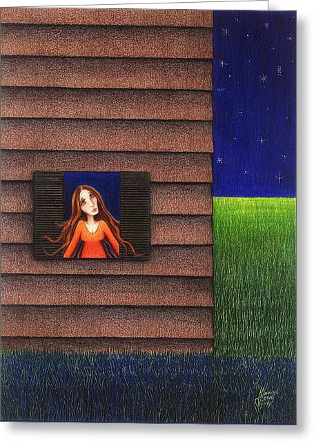 Homesick Greeting Card by Danielle R T Haney