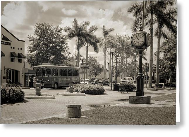 Homestead Town Square Greeting Card by Rudy Umans