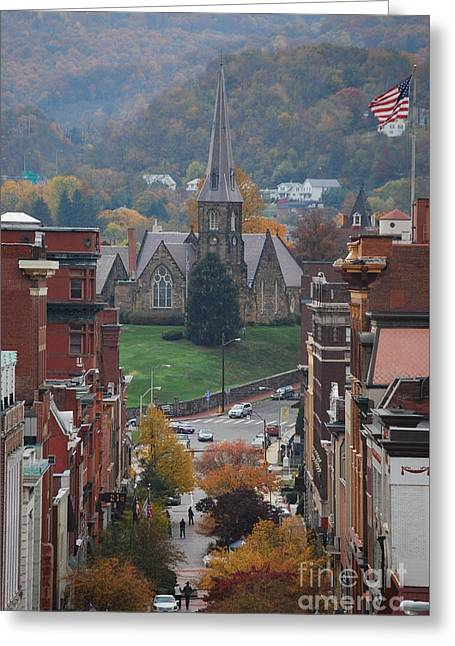 My Hometown Cumberland, Maryland Greeting Card by Eric Liller