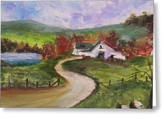 Greeting Card featuring the painting Homeward by Trilby Cole
