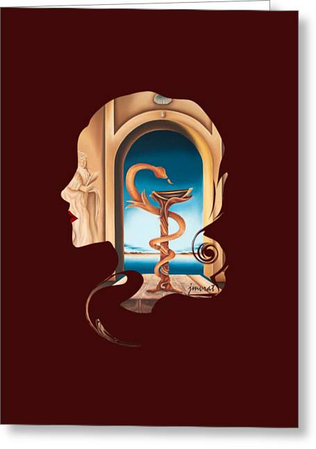 Hommage Madame Docteur, Art Prints Greeting Card by Johannes Murat