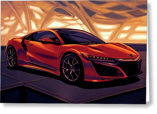 Honda Acura Nsx 2016 Mixed Media Greeting Card