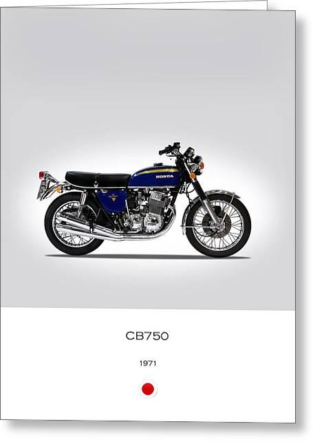 Honda Cb750 1971 Greeting Card