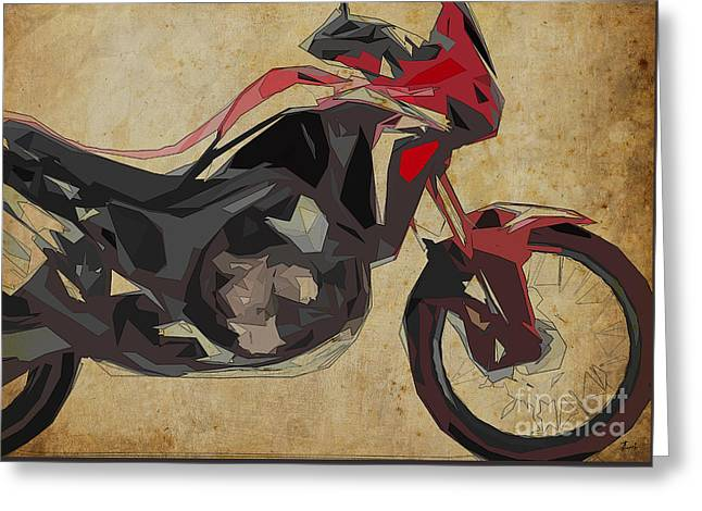 Honda Crf 1000l Africa Twin 2016 Greeting Card by Pablo Franchi