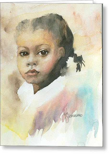 Honey Child Greeting Card by Kim Whitton