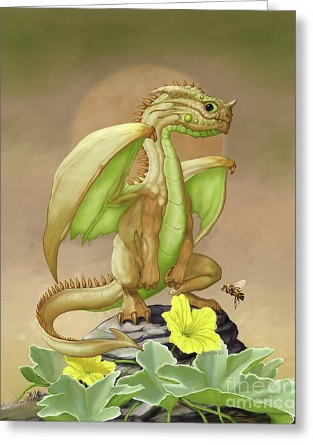 Greeting Card featuring the digital art Honey Dew Dragon by Stanley Morrison
