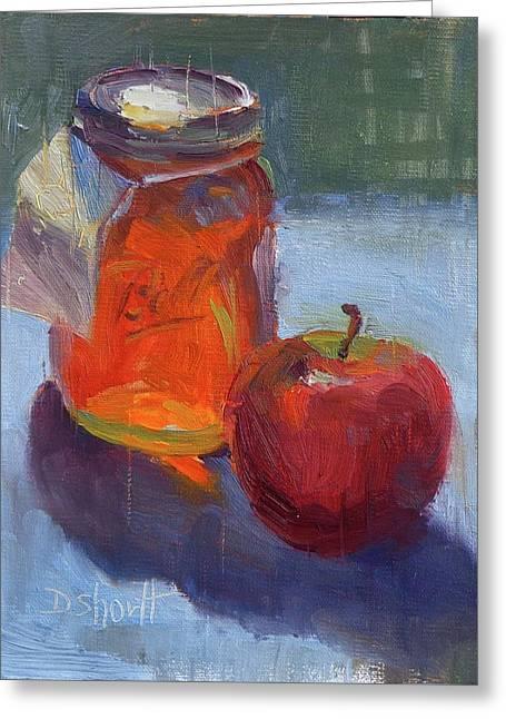 Honey Jar Greeting Card by Donna Shortt