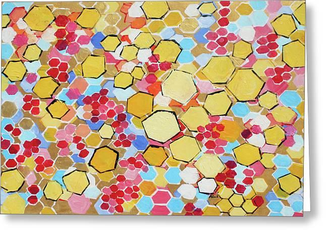 Honeycomb 201755 Greeting Card by Alyse Radenovic