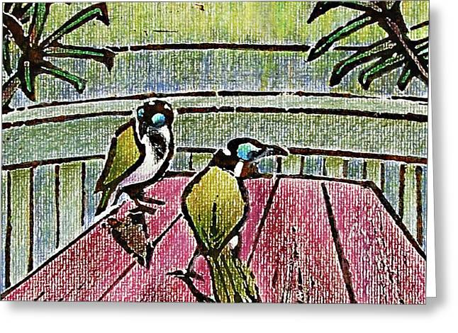 Honeyeaters Greeting Card by Huth Anne