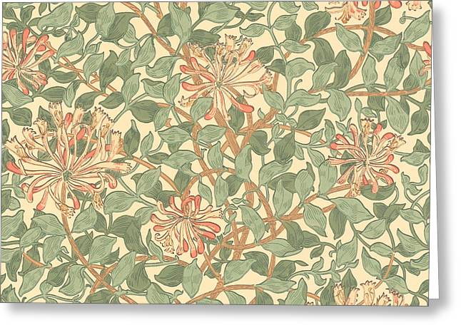 Honeysuckle Pattern Greeting Card