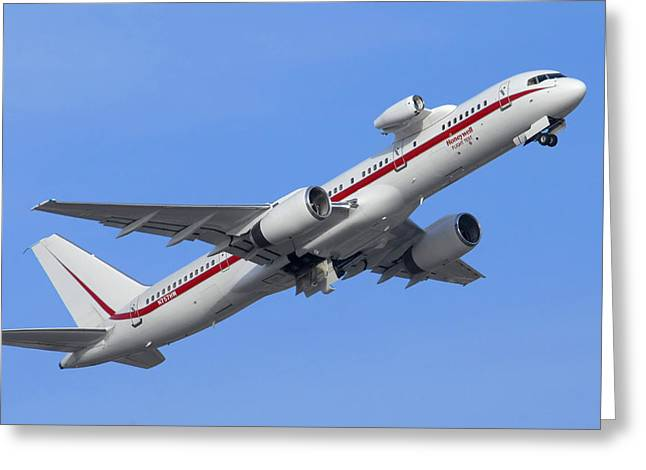 Honeywell 757 Engine Testbed N757hw Greeting Card by Brian Lockett