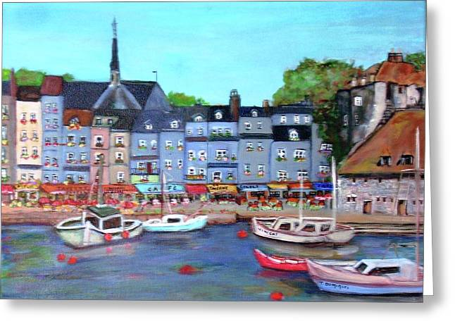 Honfleur Fishing Port Greeting Card
