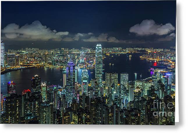 Hong Kong 32 Greeting Card by Tom Uhlenberg