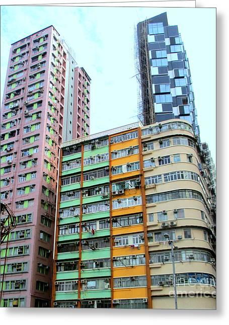 Hong Kong Apartment 10 Greeting Card by Randall Weidner