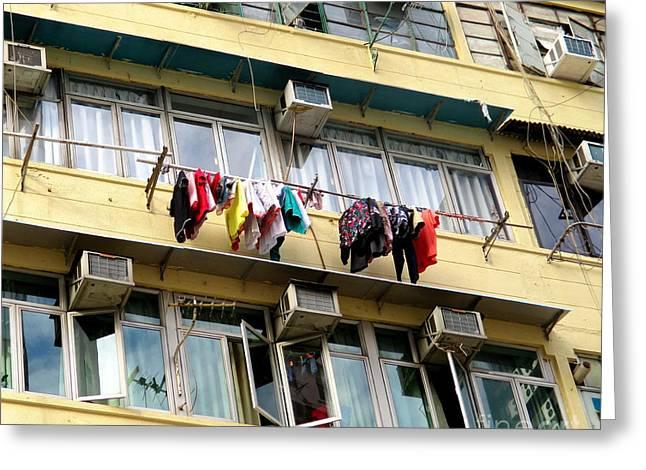 Hong Kong Apartment 7 Greeting Card by Randall Weidner