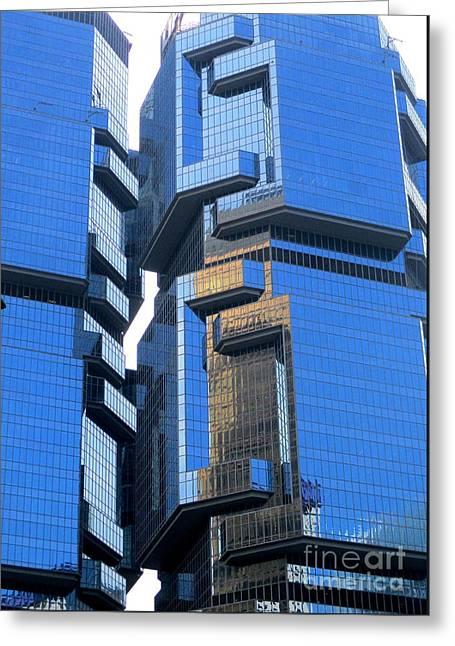 Hong Kong Architecture 30 Greeting Card by Randall Weidner