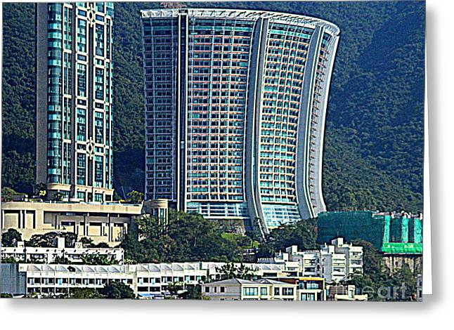 Hong Kong Architecture 78 Greeting Card by Randall Weidner