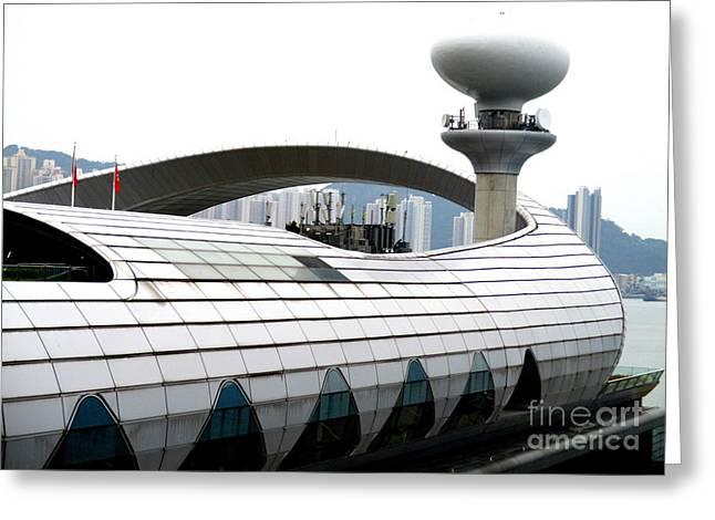 Hong Kong Cruise Terminal 3 Greeting Card by Randall Weidner